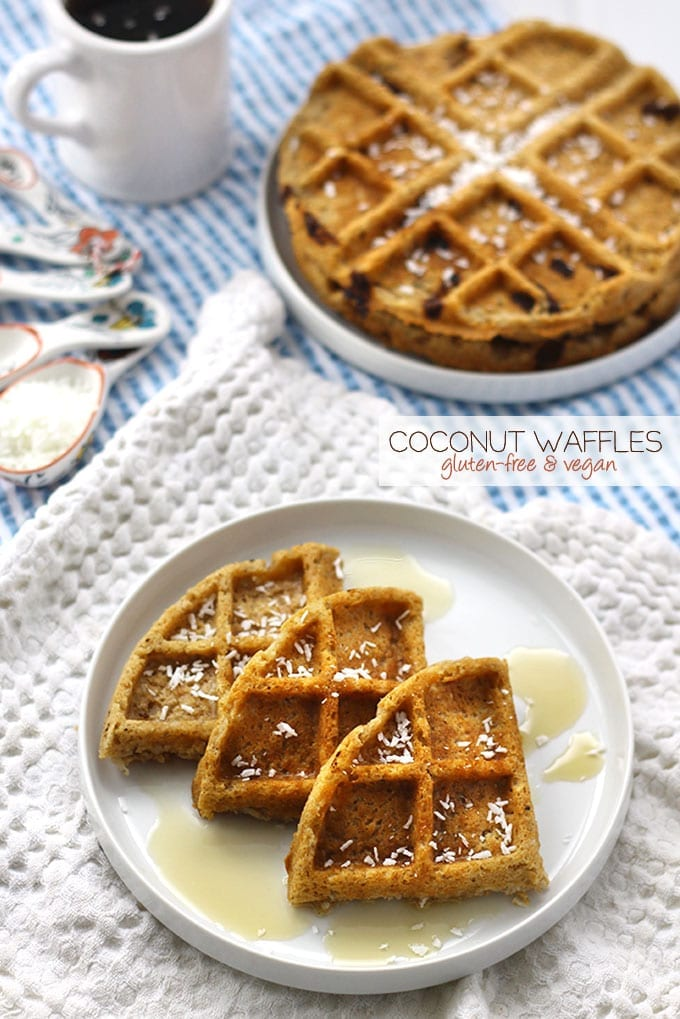 Coconut Waffles - Vegan and Gluten-Free