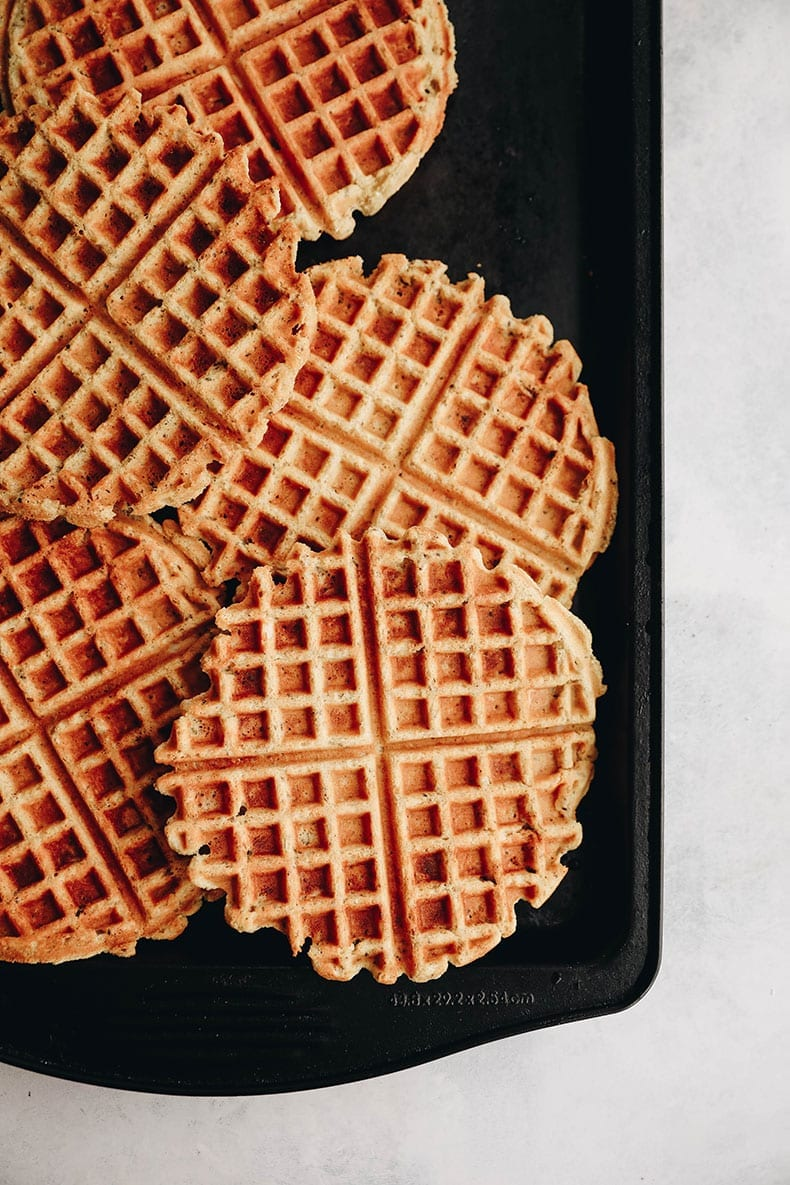 Have you tried coconut waffles? These ones are gluten-free and vegan but crisp up as well if not better than regular waffles