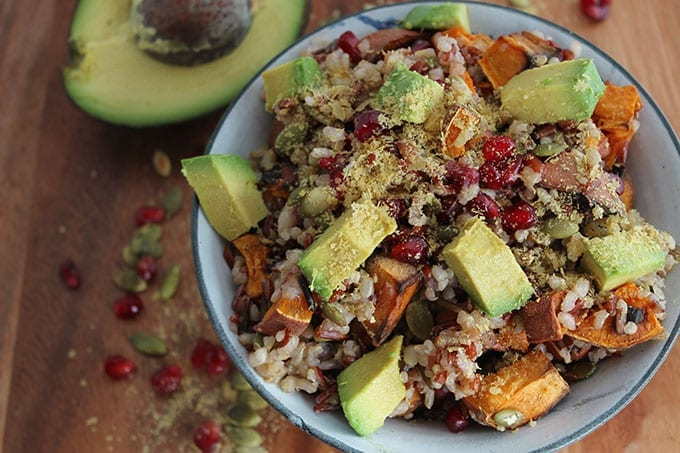 Warm quinoa and rice salad 2