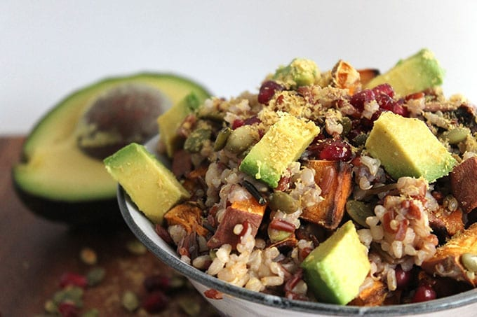 Warm Quinoa and Rice Salad