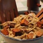 Vegan Pesto Pasta w/ Spicy Tempeh