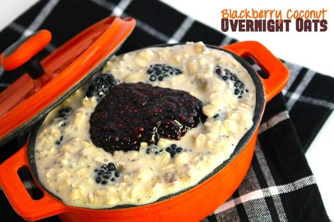 Blackberry Coconut Overnight Oats // thehealthymaven.com