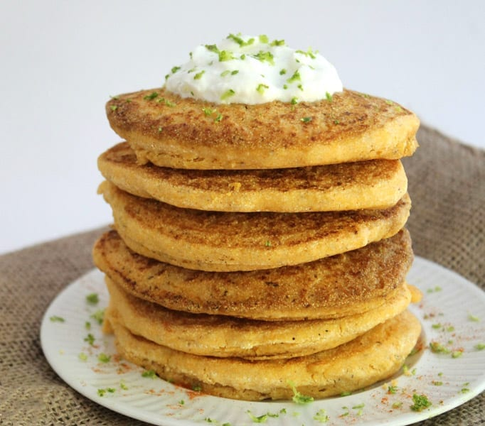 Sweet and Savoury Cornbread Pancakes