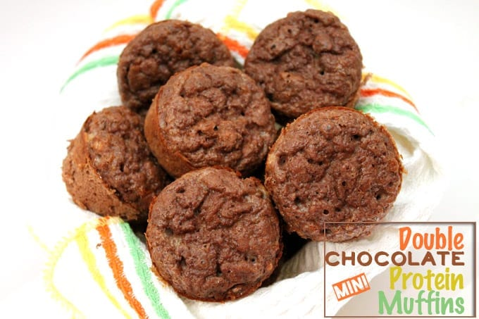 double chocolate mini protein muffins
