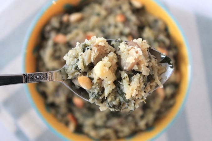 Truffled Mushroom Cauliflower Risotto // thehealthymaven.com