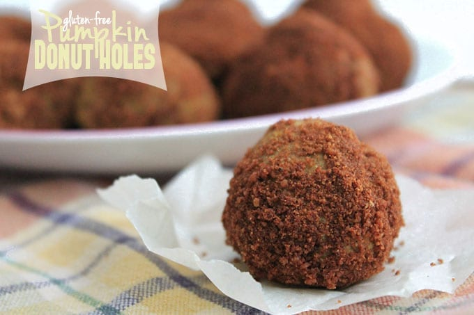 Gluten-Free Pumpkin Donut Holes - the perfect #fall treat! // thehealthymaven.com