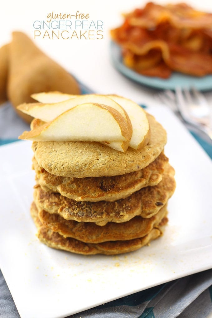 Gluten-Free Ginger Pear Pancakes for the perfect weekend brunch recipe.