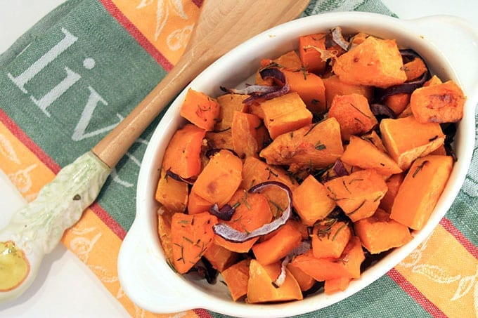 Roasted Rosemary Butternut Squash // thehealthymaven.com