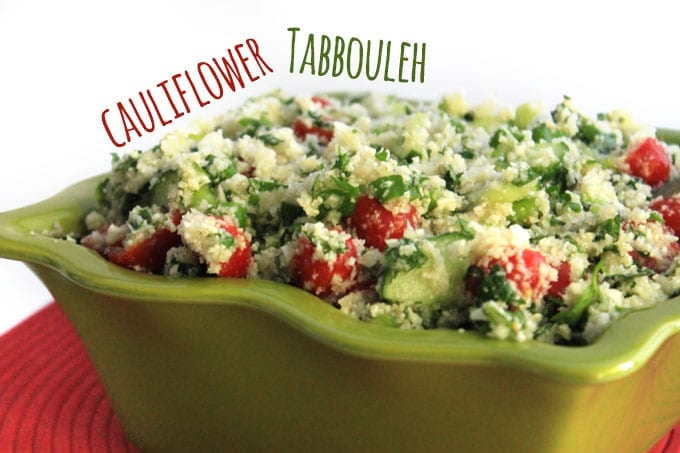 Cauliflower Tabbouleh // thehealthymaven.com