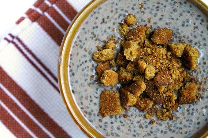 Gingerbread Chia Pudding for a fun Christmas twist on classic chia pudding. The perfect winter snack recipe!