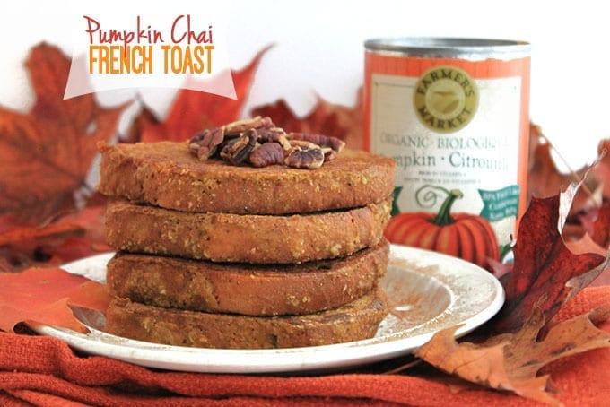 Pumpkin Chai French Toast // thehealthymaven.com #pumpkin #fall #glutenfree #vegan