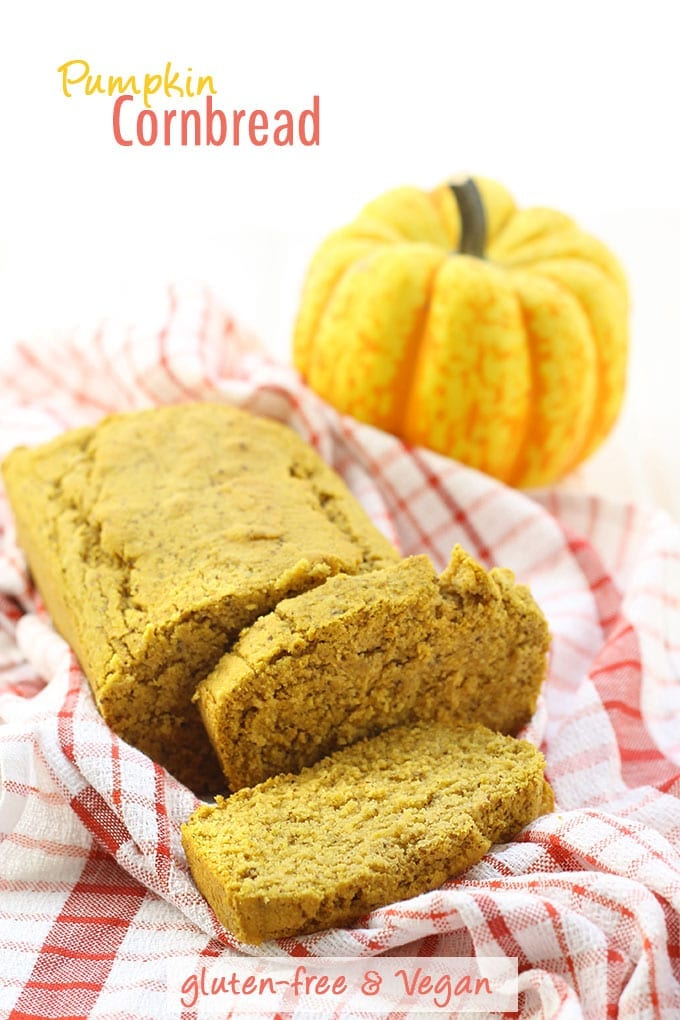 Pumpkin Cornbread that is gluten-free AND vegan!and the best thing to happen to your Fall baking!