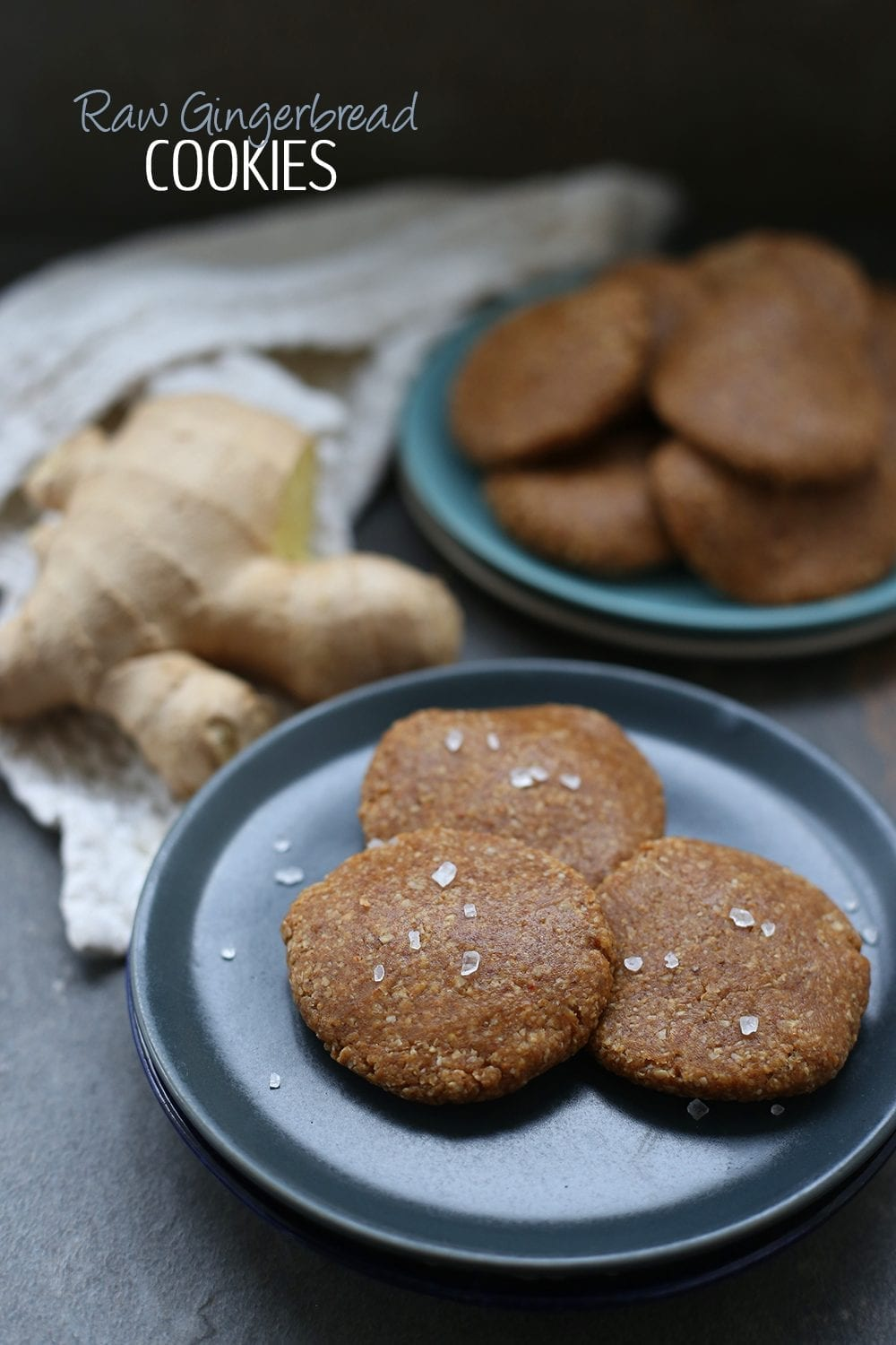 A simple and delicious recipe for Raw Gingerbread Cookies made with wholesome ingredients like dates and nuts. Better yet, there's no oven required!