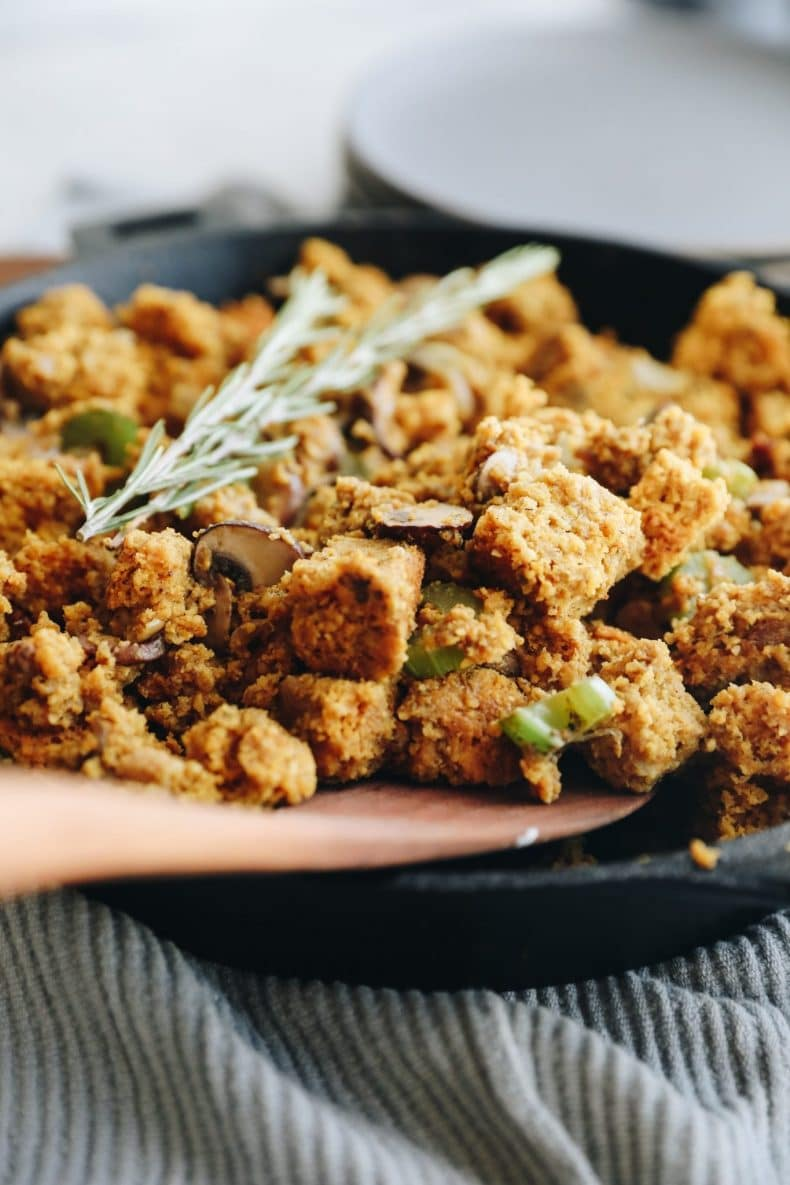 cornbread stuffing in cast iron