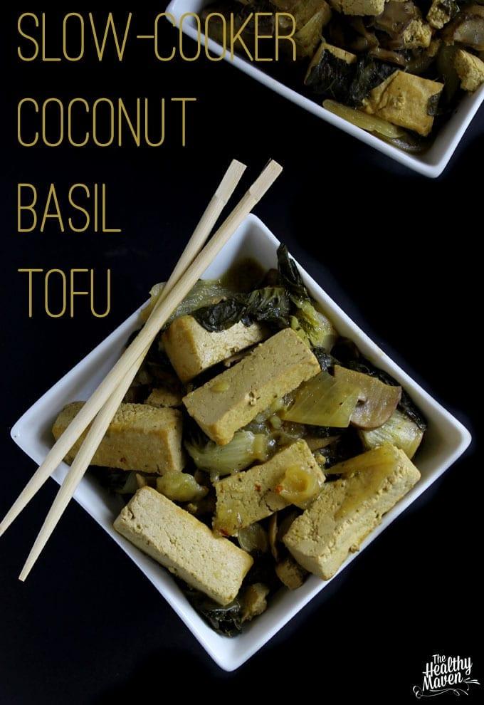 coconut basil tofu