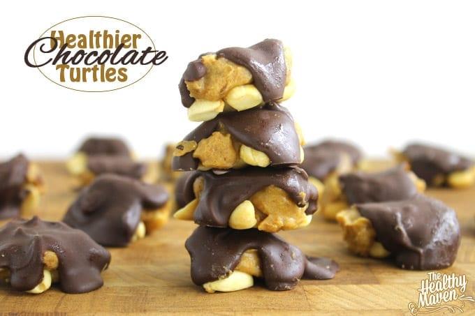 healthier chocolate turtles