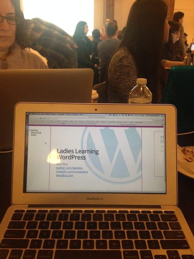 ladies learning wordpress