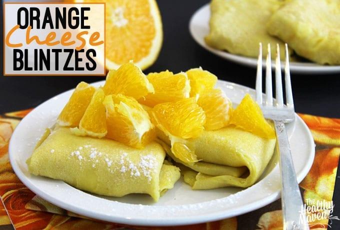 orange cheese blintzes