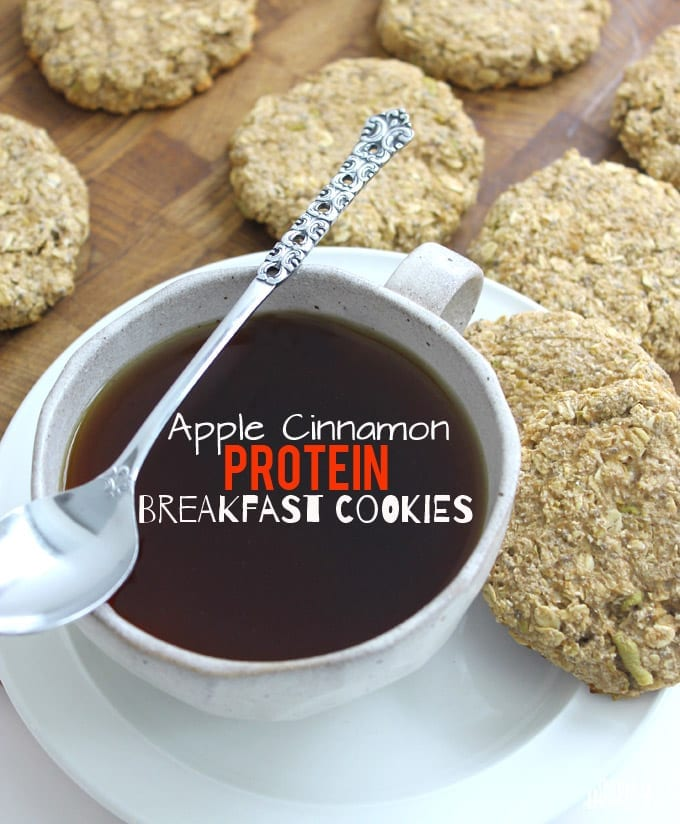 Apple Cinnamon Protein Breakfast Cookies