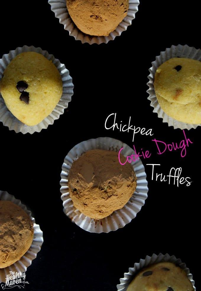 Chickpea Cookie Dough Truffles