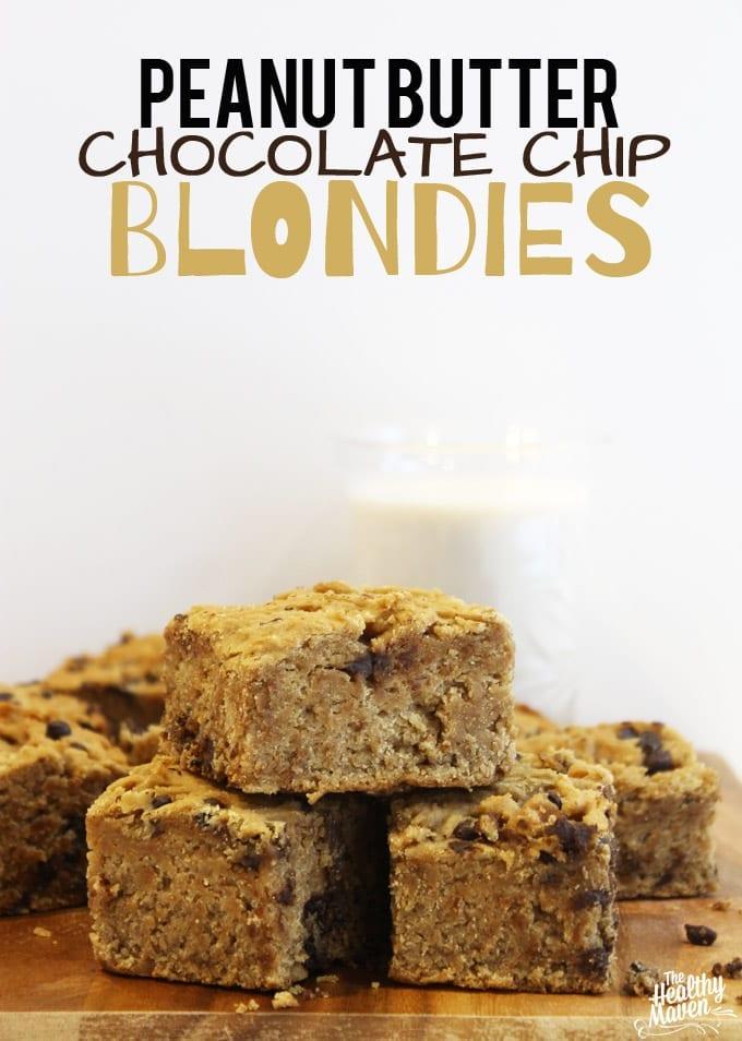 peanut butter chocolate chip blondies