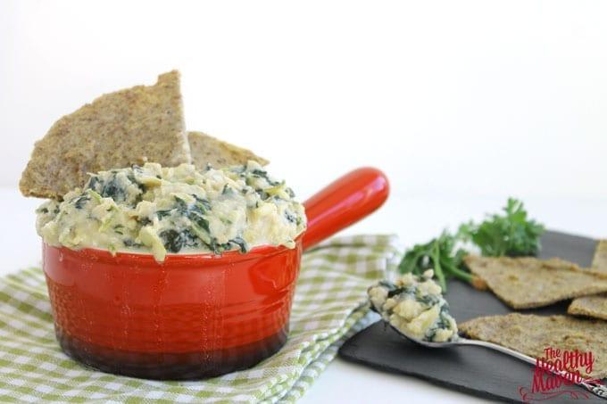 white bean kale and artichoke dip 5