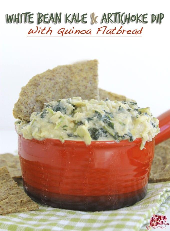white bean kale and artichoke dip