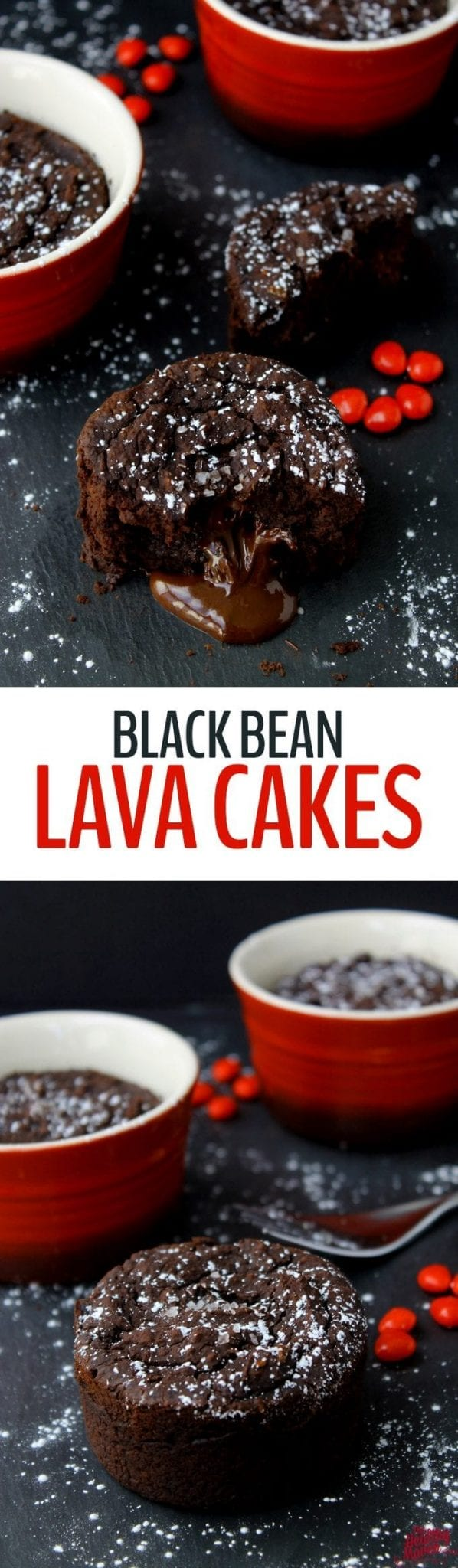 These Black Bean Lava Cakes are a healthy dessert that will trick your loved ones into eating their beans! No one will ever know these chocolate lava cakes are made from black beans!