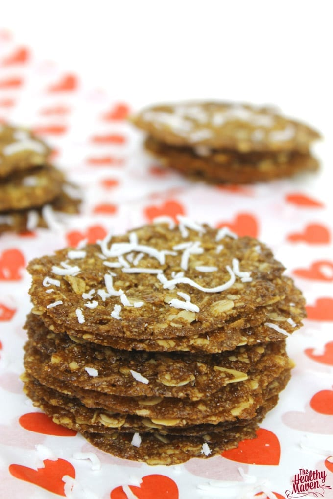 Coconut Oatmeal Lace Cookies 2