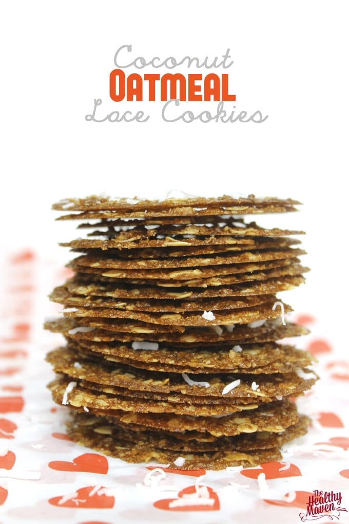 Coconut Oatmeal Lace Cookies // thehealthymaven.com #glutenfree #vegan