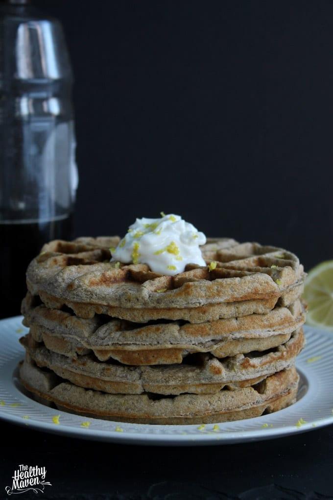 lemon buckwheat waffles 2