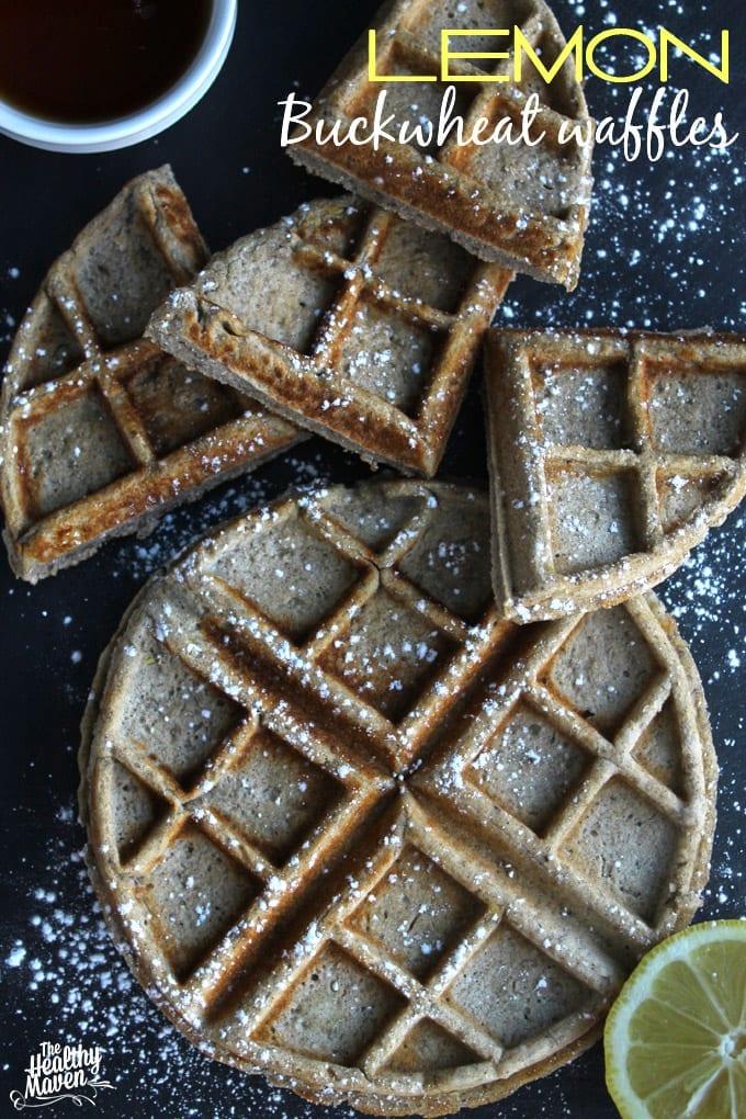 lemon buckwheat waffles