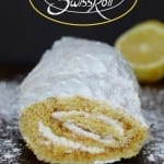 Lemon Swiss Roll with Coconut Cream Frosting