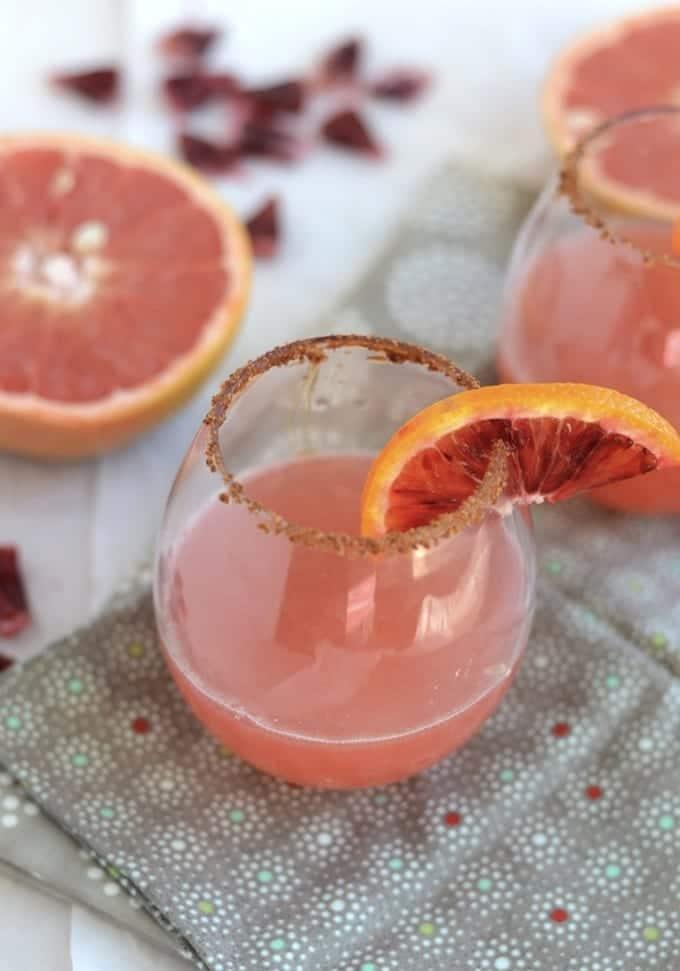 Blood Orange and Grapefruit Mocktal
