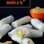 Shrimp & Mango Rolls with Spicy Peanut Sauce