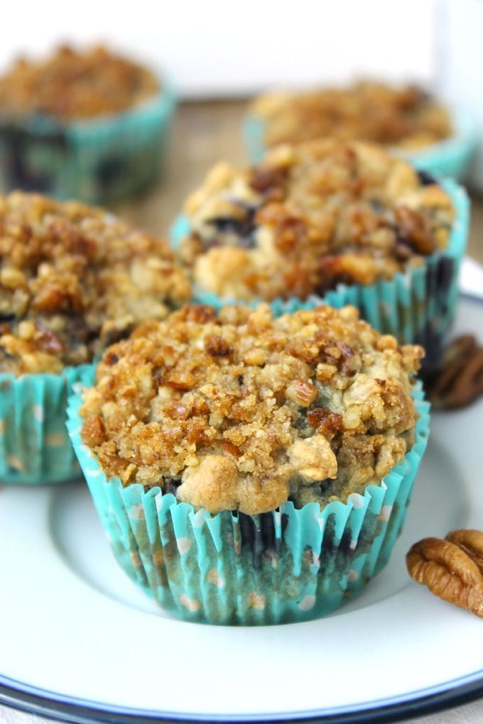 Blueberry Oatmeal Muffins with Pecan Streusel 2