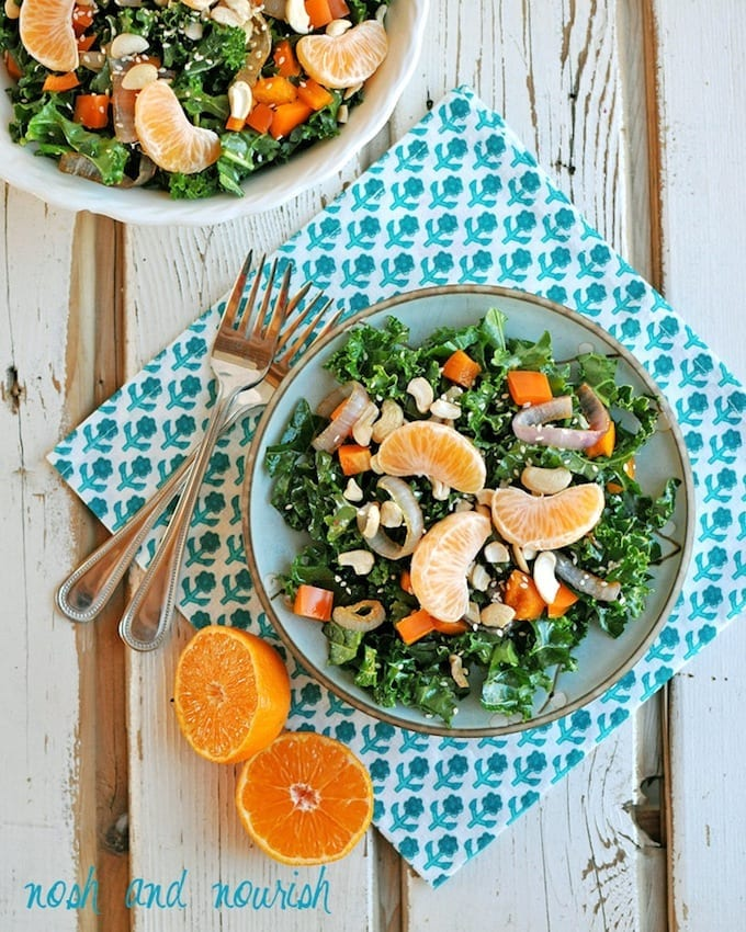 Chinese Chopped Salad with Orange Sesame Dressing