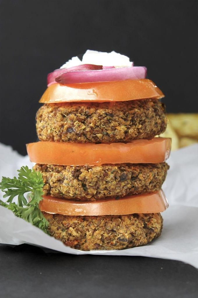 Greek Quinoa Burgers - The Healthy Maven