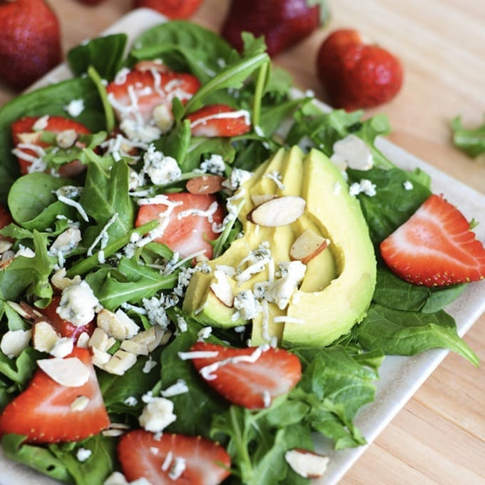 Strawberry Arugula Salad with Poppyseed Dressing