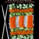 {Healthy Spring Salads} Sushi Salad w/ Carrot-Ginger Dressing