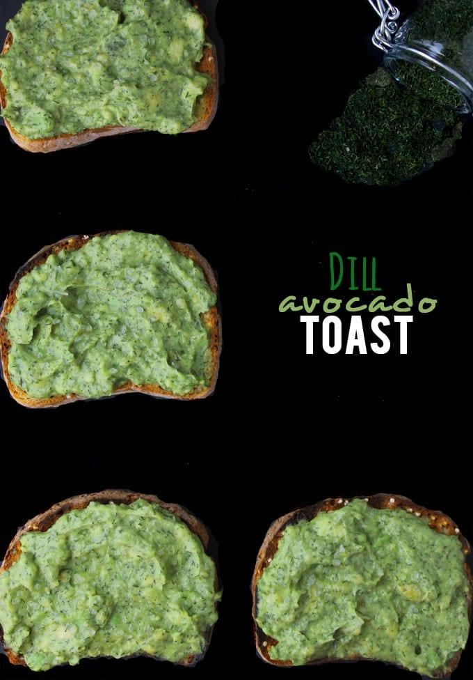 dill avocado toast
