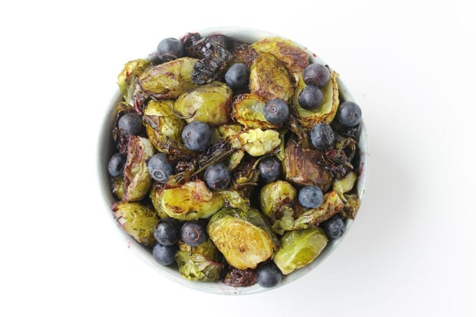 roasted rosemary brussels sprouts with blueberries 2