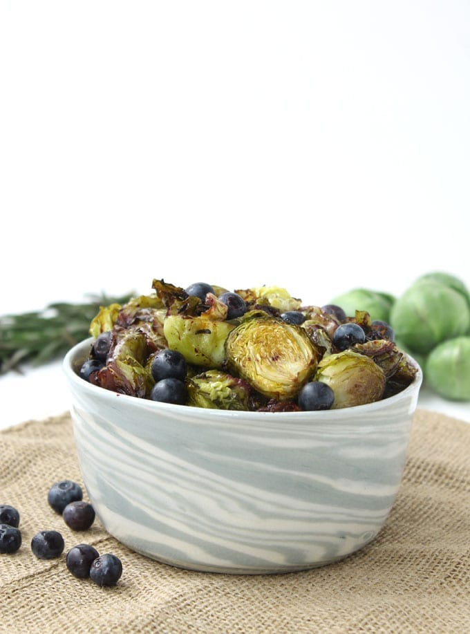 roasted rosemary brussels sprouts with blueberries 3