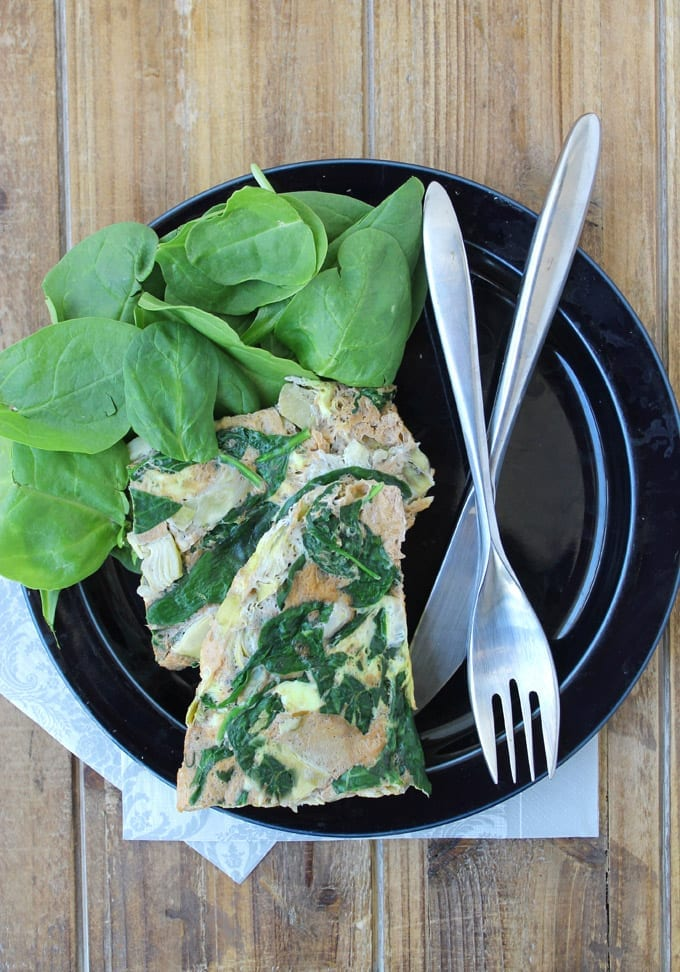 spinach and artichoke omelette 2