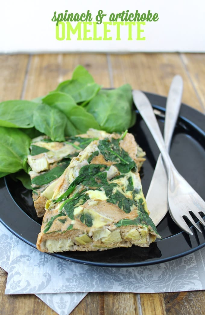 spinach and artichoke omelette