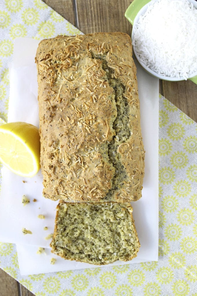 Coconut Lemon Poppyseed Loaf // thehealthymaven.com #glutenfree