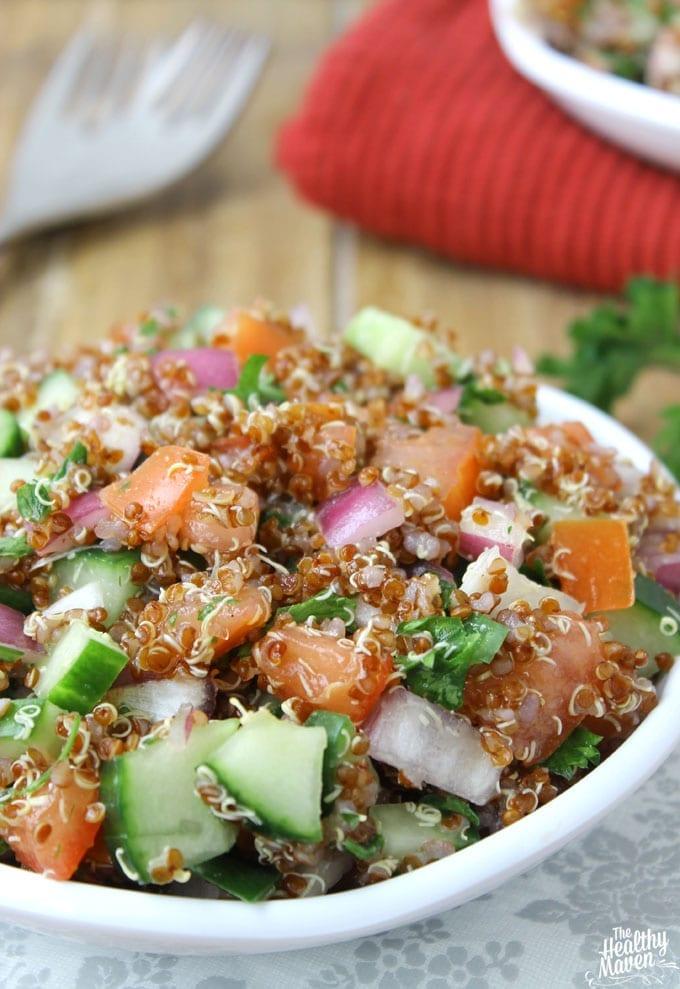 Israeli Quinoa Salad // thehealthymaven.com