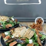 Balsamic Chicken Salad w/ Figs, Portobellos and Candied Pecans