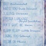 Coachella Workout Playlist