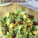 Arugula Salad with Balsamic Pesto Dressing